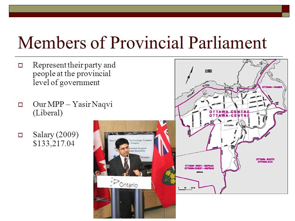 Members of Provincial Parliament