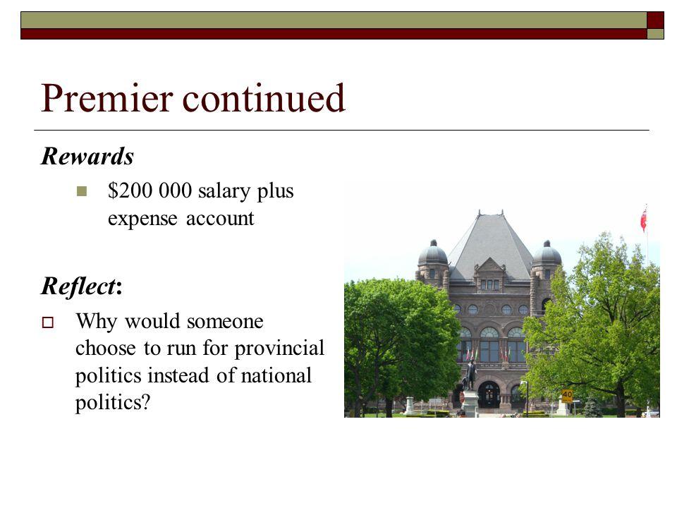 Premier continued Rewards Reflect: