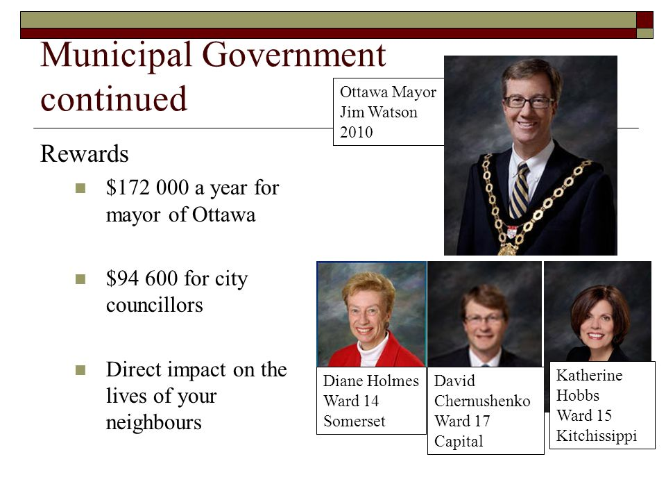 Municipal Government continued