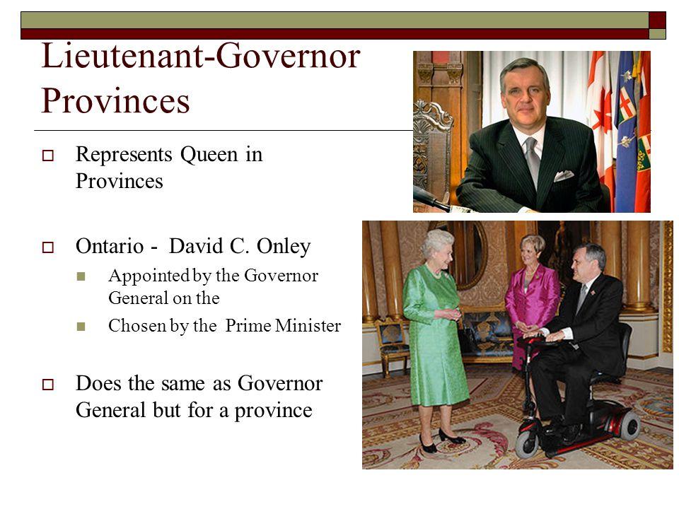 Lieutenant-Governor Provinces