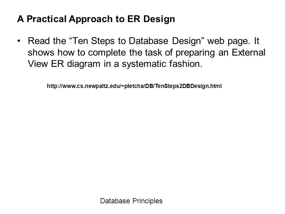 A Practical Approach to ER Design