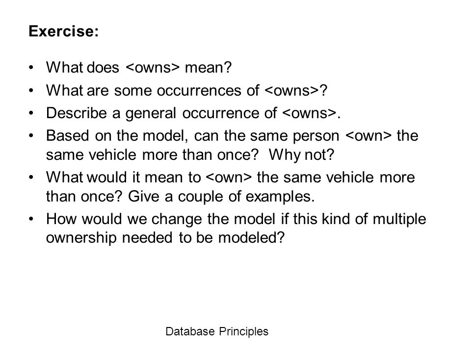 What does <owns> mean