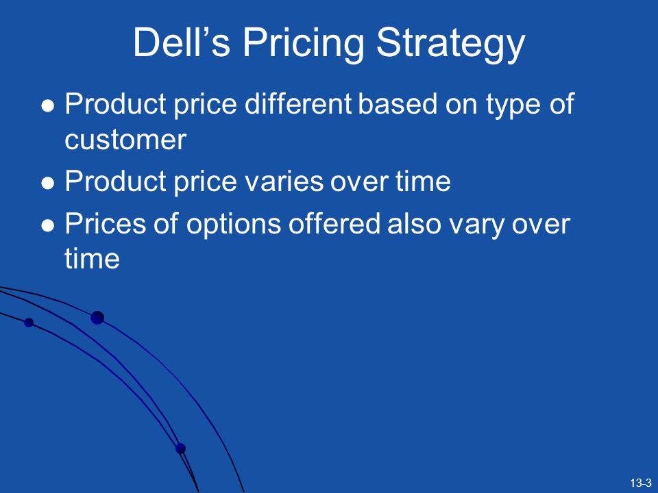 Dell's Pricing Strategy