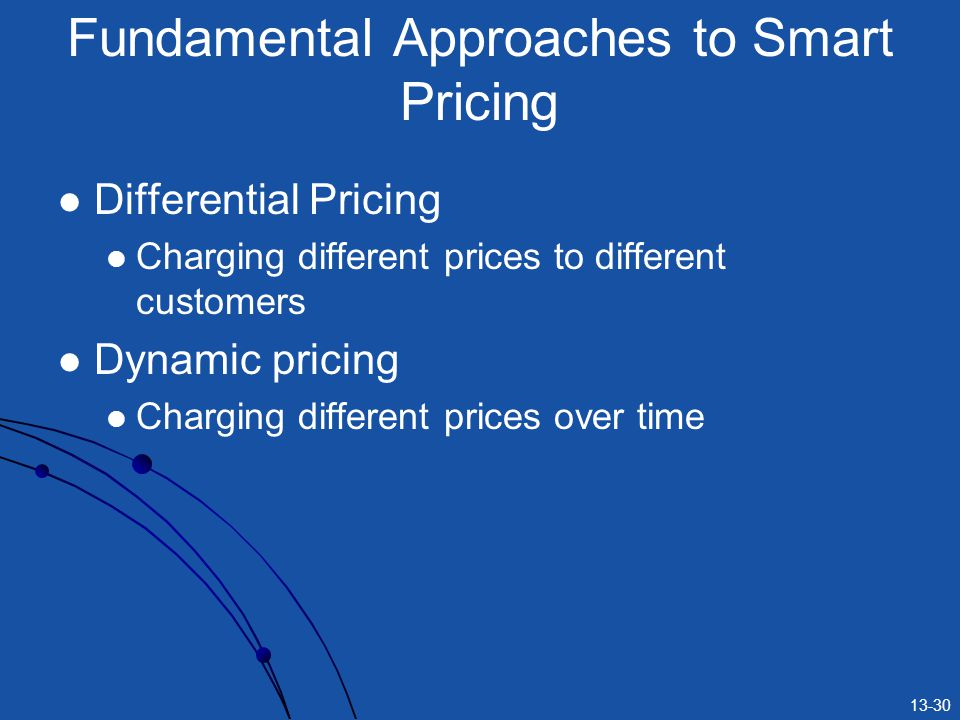 Fundamental Approaches to Smart Pricing