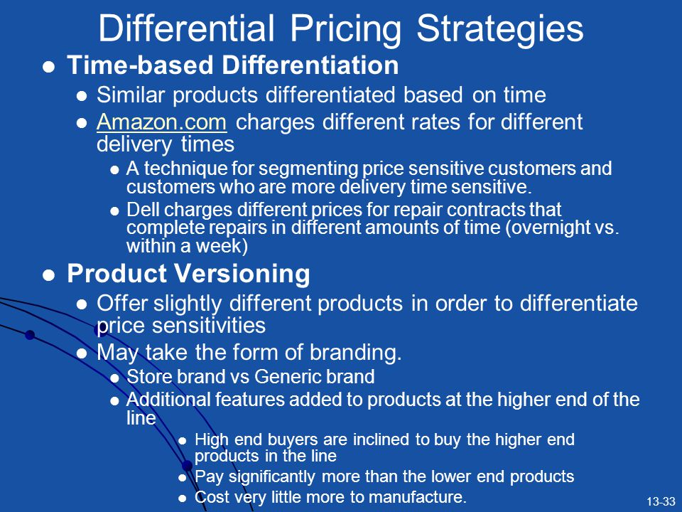 Differential Pricing Strategies