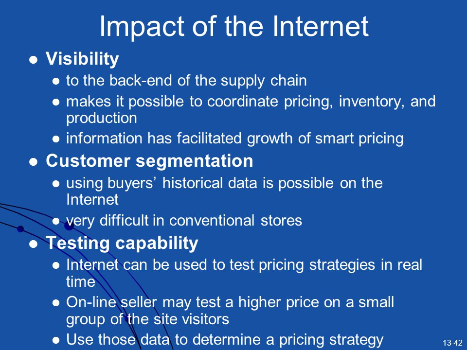 Impact of the Internet Visibility Customer segmentation