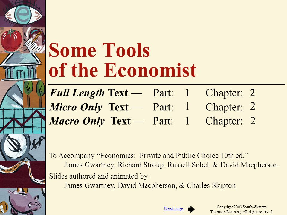 Some Tools of the Economist