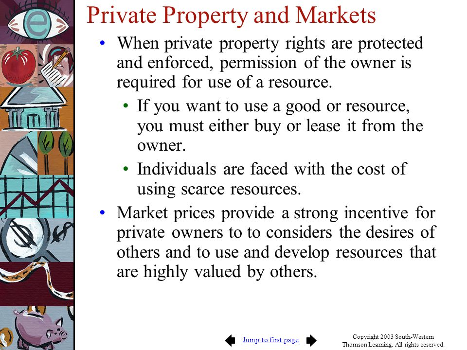 Private Property and Markets