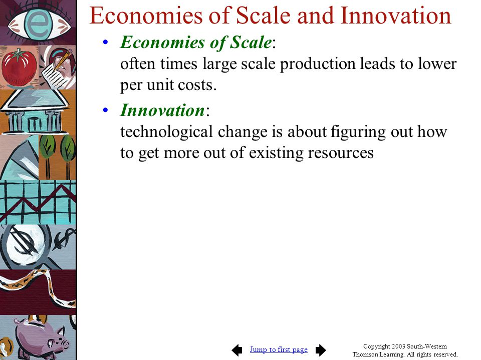 Economies of Scale and Innovation