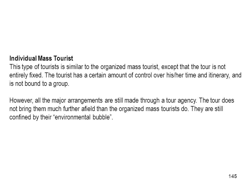 Individual Mass Tourist