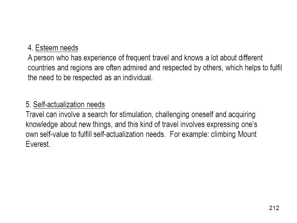 4. Esteem needs