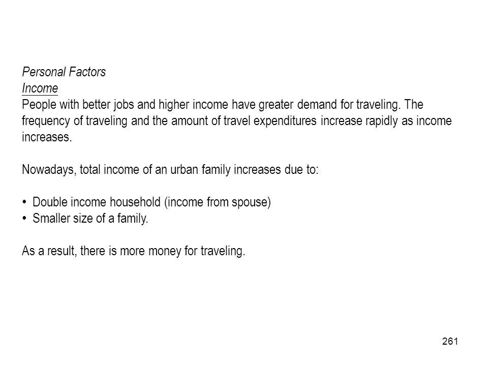 Personal Factors Income.