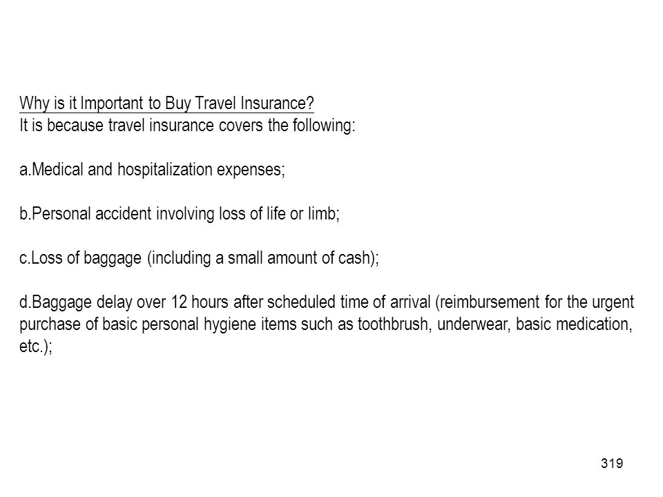 Why is it Important to Buy Travel Insurance