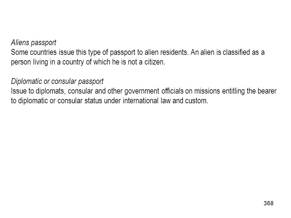 Aliens passport