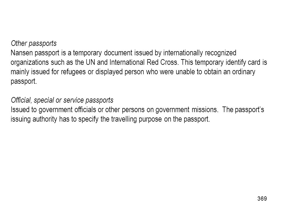 Other passports