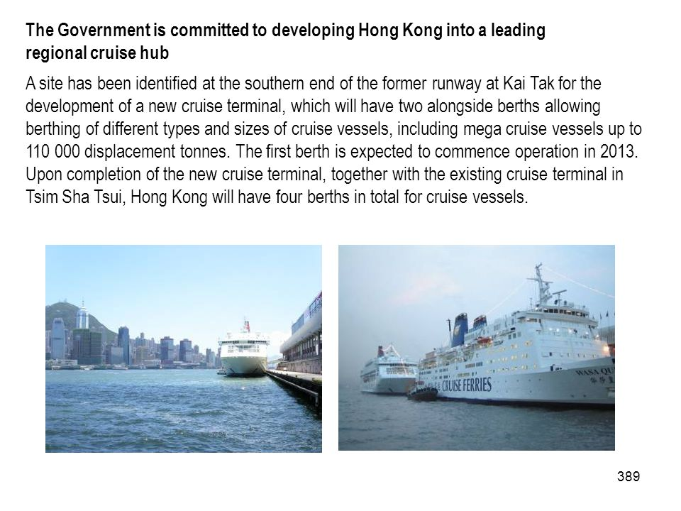 The Government is committed to developing Hong Kong into a leading