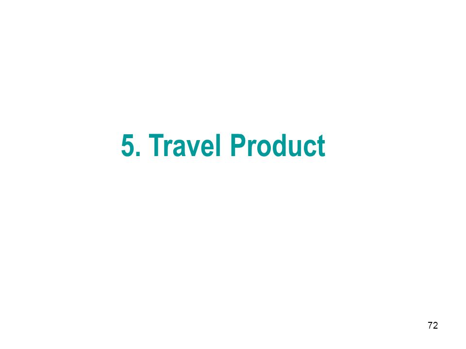 5. Travel Product
