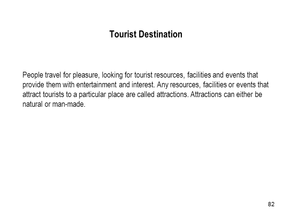 Tourist Destination