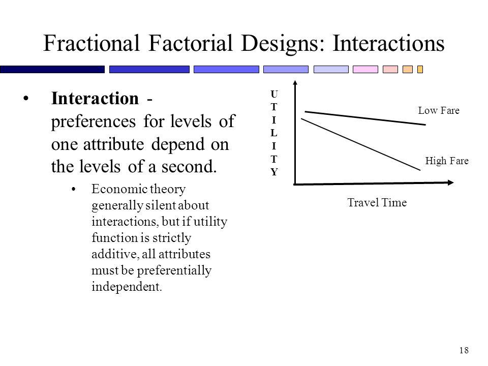 Fractional Factorial Designs: Interactions