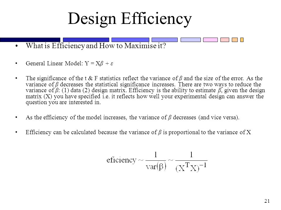 Design Efficiency What is Efficiency and How to Maximise it