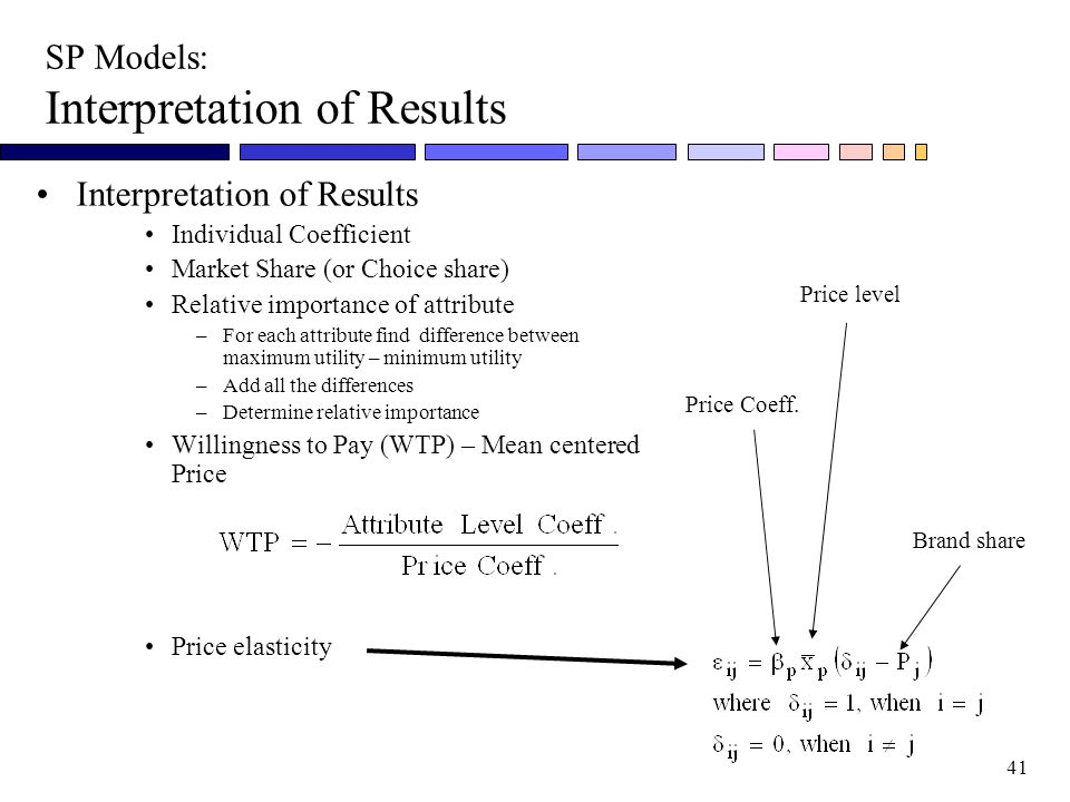 SP Models: Interpretation of Results