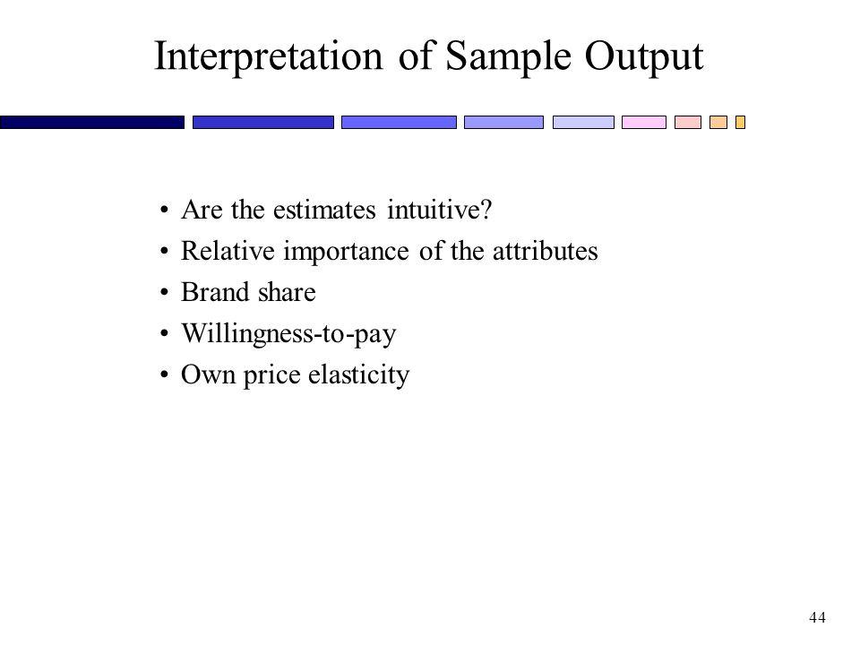 Interpretation of Sample Output
