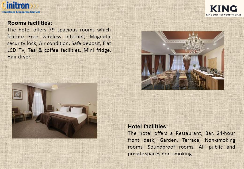 Rooms facilities: