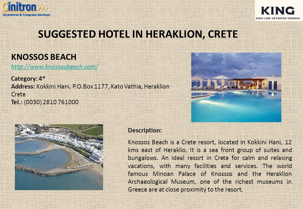 SUGGESTED HOTEL IN HERAKLION, CRETE