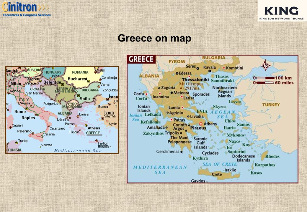 Greece on map 4