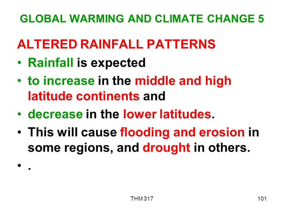 GLOBAL WARMING AND CLIMATE CHANGE 5