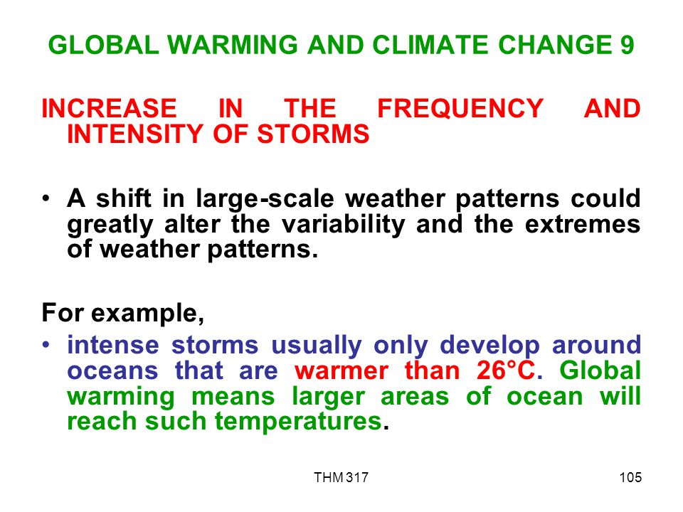GLOBAL WARMING AND CLIMATE CHANGE 9