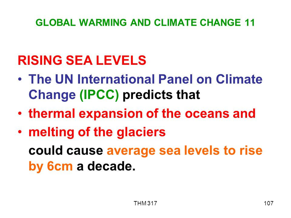 GLOBAL WARMING AND CLIMATE CHANGE 11