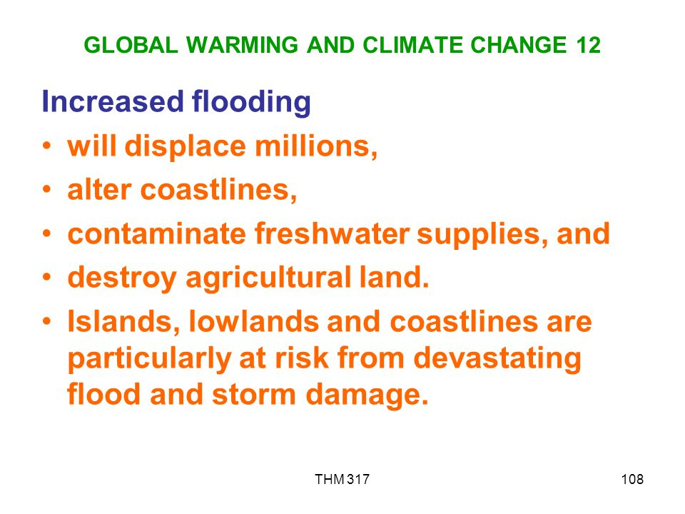 GLOBAL WARMING AND CLIMATE CHANGE 12