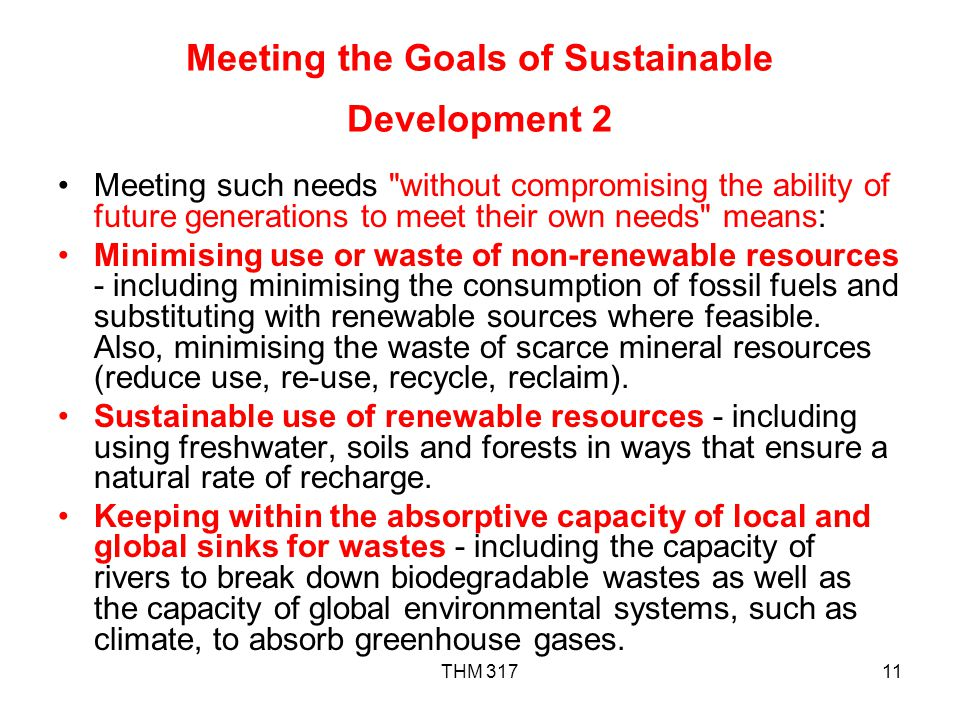 Meeting the Goals of Sustainable Development 2