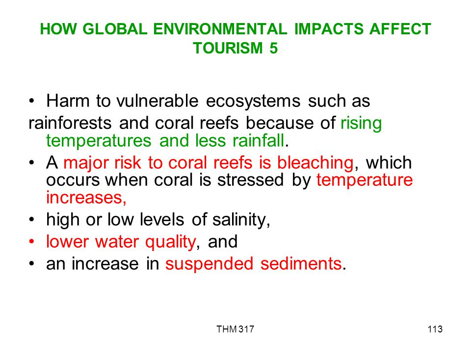 HOW GLOBAL ENVIRONMENTAL IMPACTS AFFECT TOURISM 5