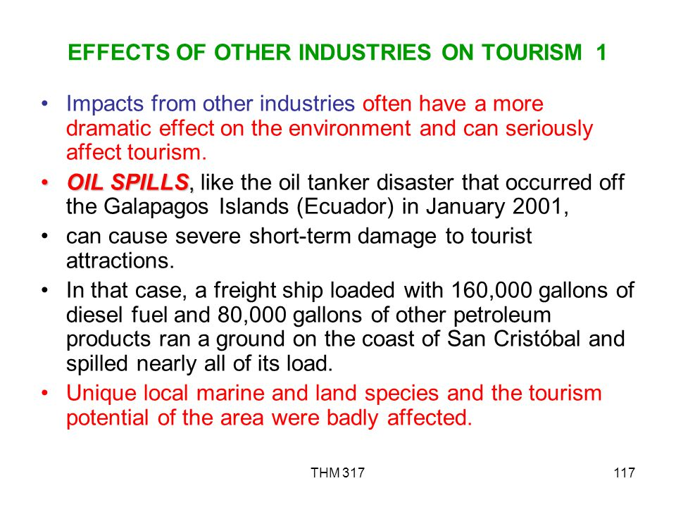 EFFECTS OF OTHER INDUSTRIES ON TOURISM 1