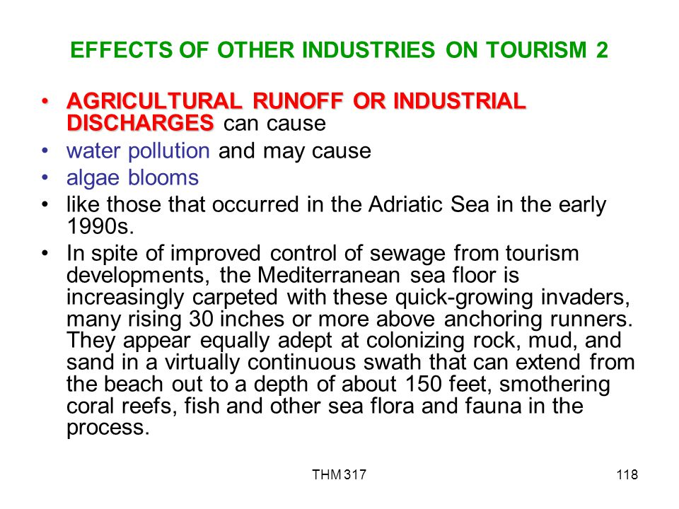 EFFECTS OF OTHER INDUSTRIES ON TOURISM 2