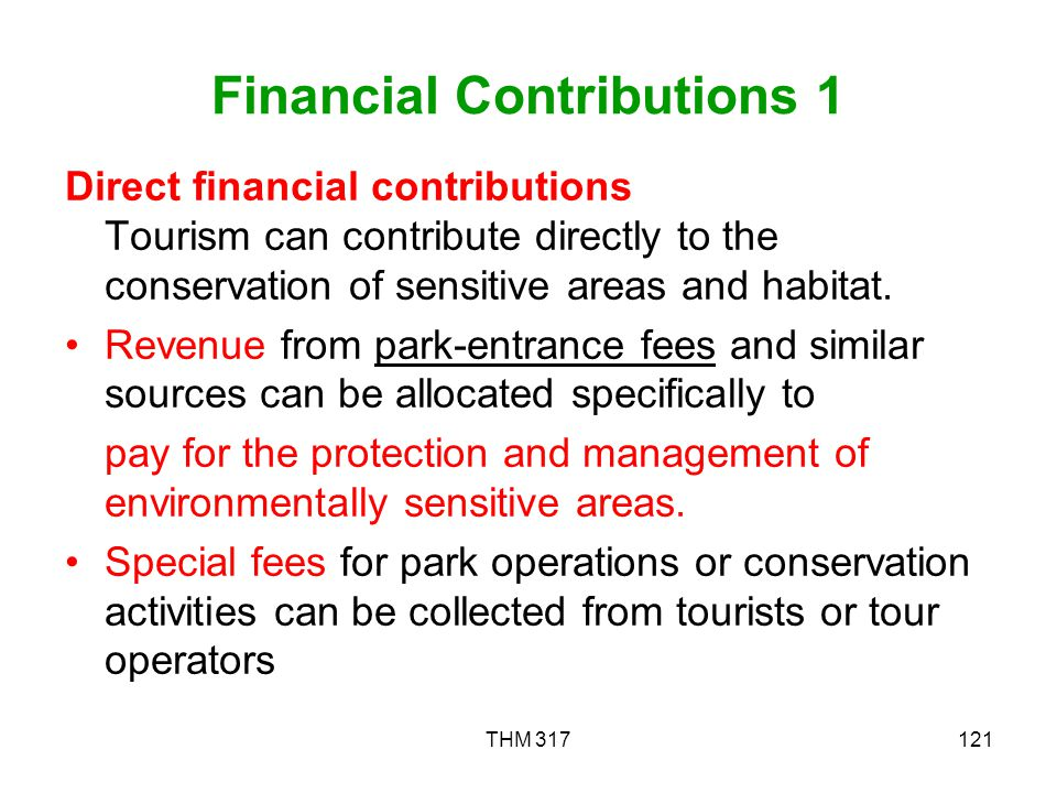 Financial Contributions 1