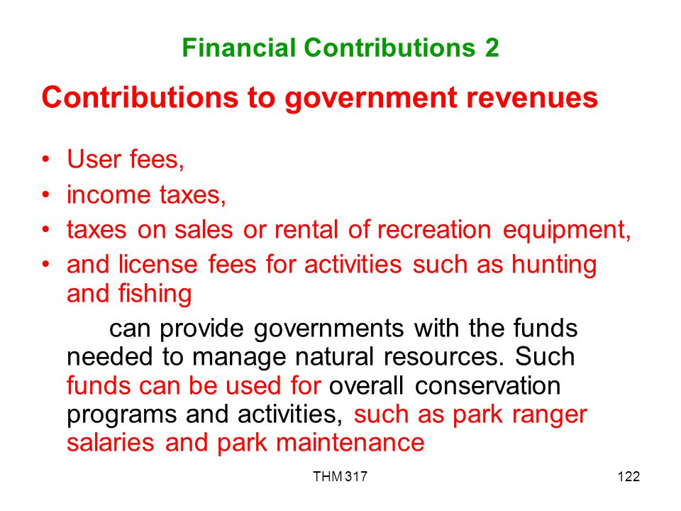 Financial Contributions 2