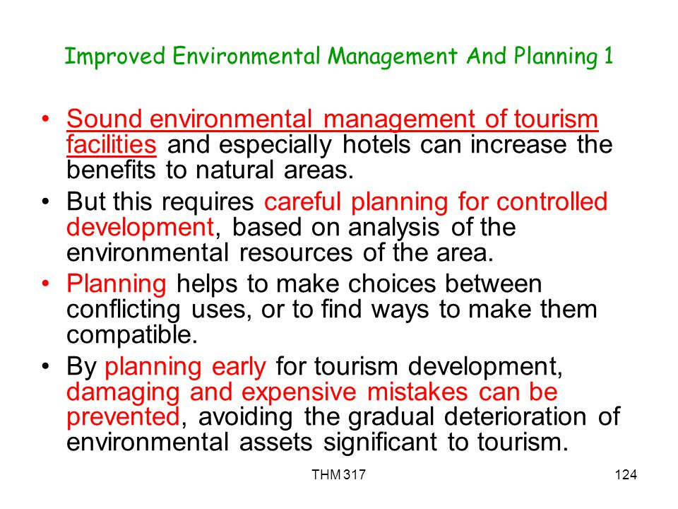 Improved Environmental Management And Planning 1