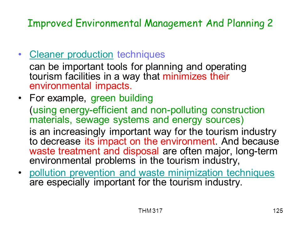 Improved Environmental Management And Planning 2