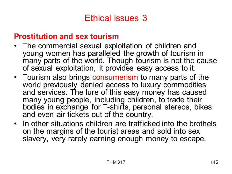Ethical issues 3 Prostitution and sex tourism