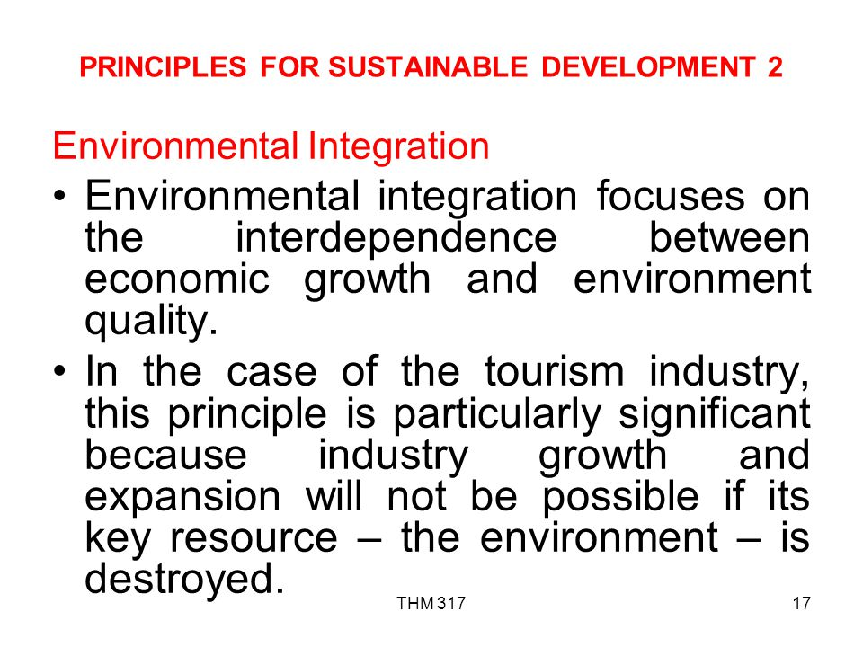 PRINCIPLES FOR SUSTAINABLE DEVELOPMENT 2