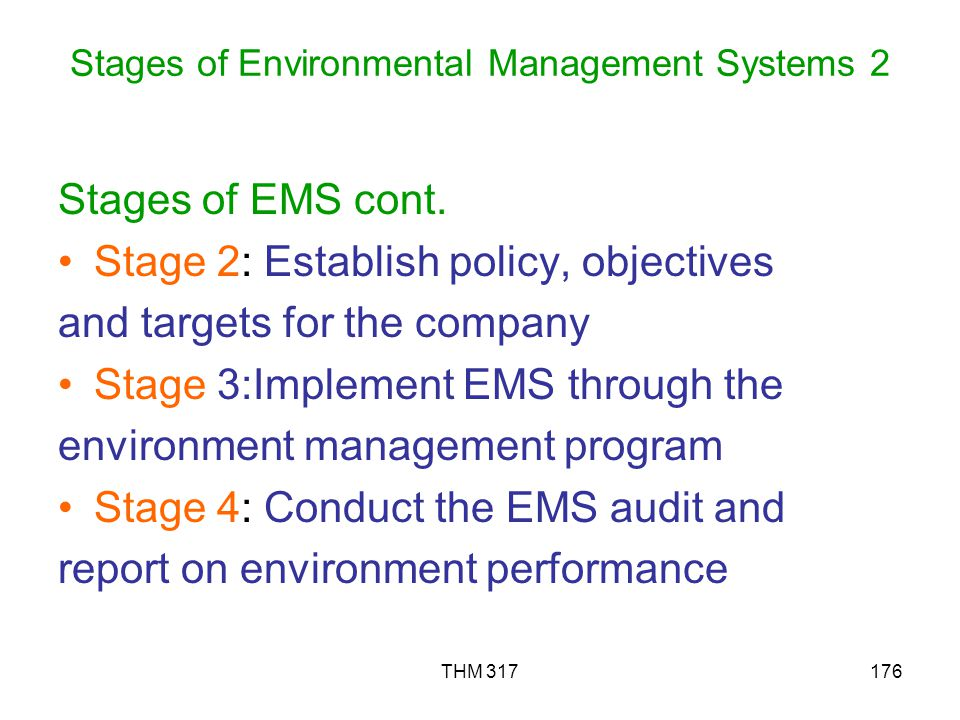 Stages of Environmental Management Systems 2