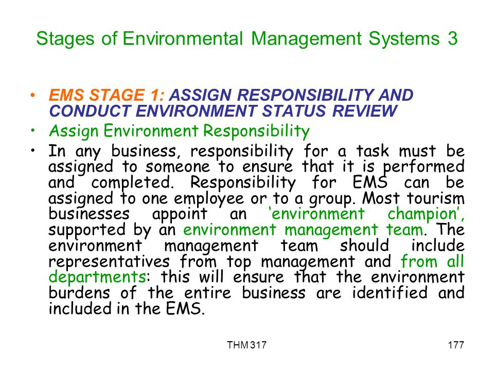 Stages of Environmental Management Systems 3