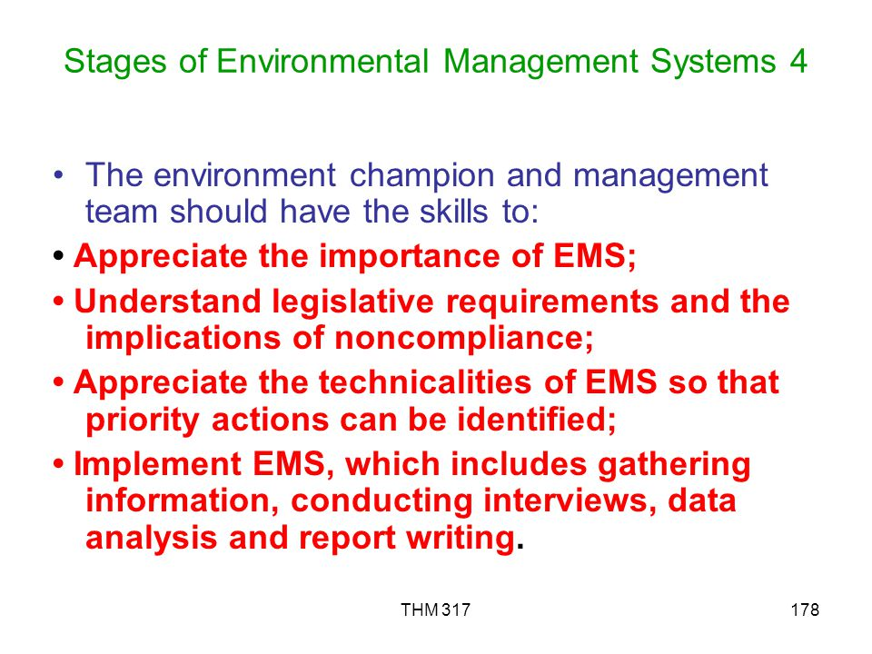 Stages of Environmental Management Systems 4