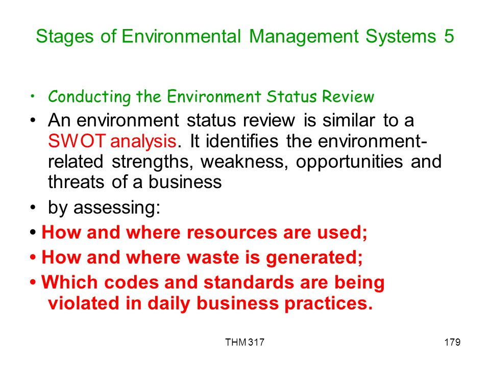 Stages of Environmental Management Systems 5