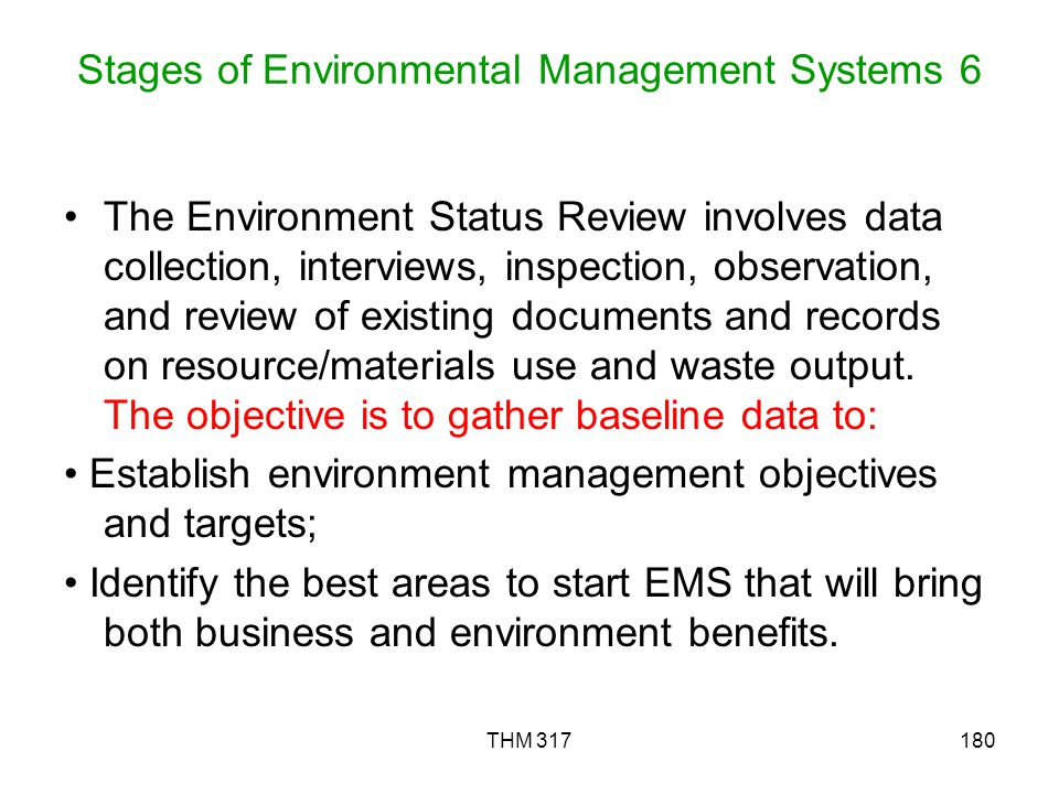 Stages of Environmental Management Systems 6