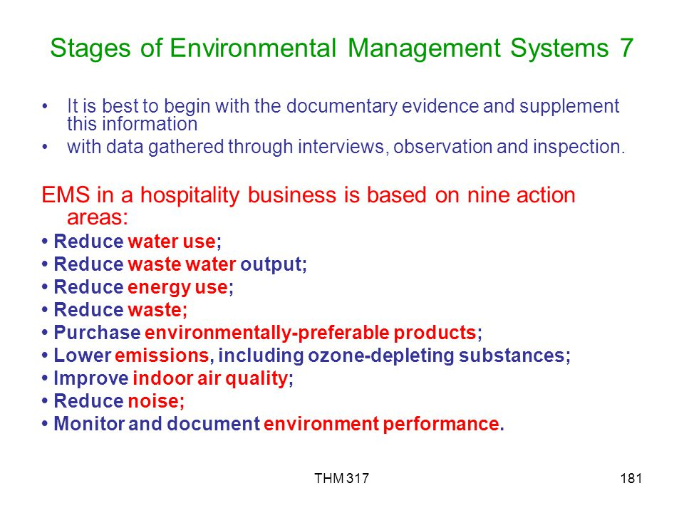 Stages of Environmental Management Systems 7