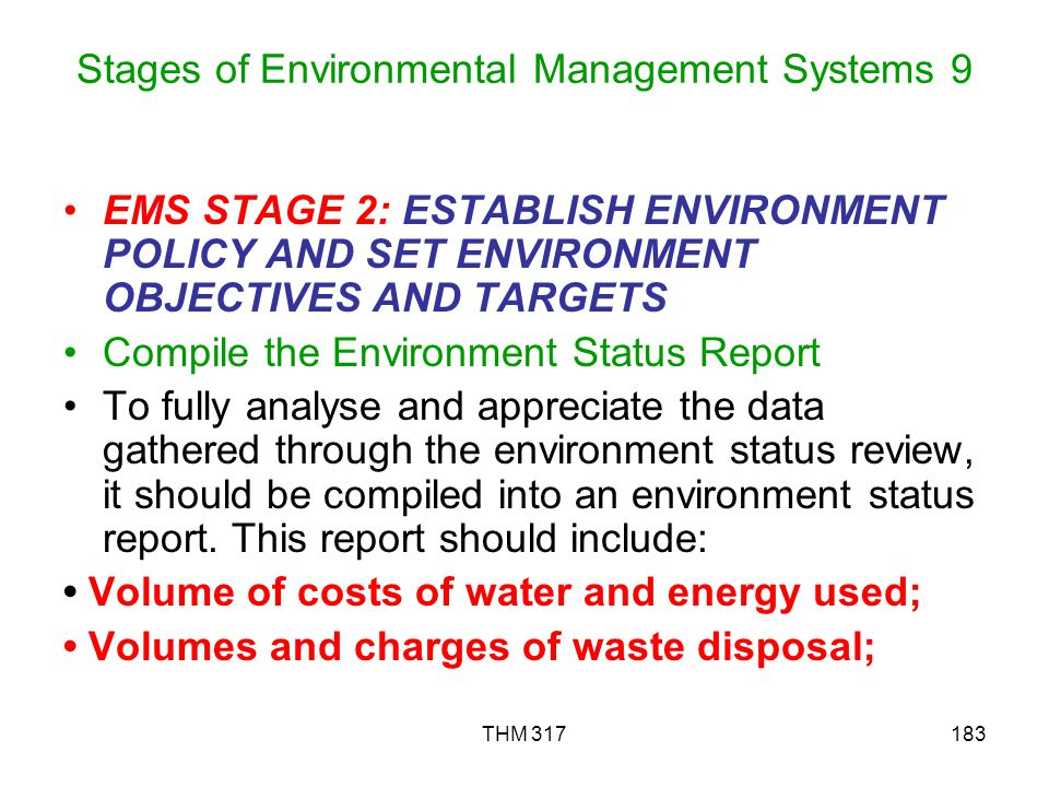 Stages of Environmental Management Systems 9